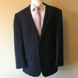 Wilke Rodriquez black wool blend blazer 42 S